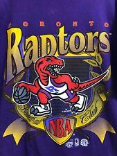 TORONTO RAPTORS VTG 1994 PURPLE LARGE LOGO NBA BASKETBALL SHIRT XL