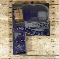New Listingvintage Letterpress Print Block Plate Flint Rubber Stamp Works Advertising Mi