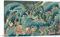 Tamatori-Hime at the Dragon Palace Canvas Art Print by Utagawa Kuniyoshi