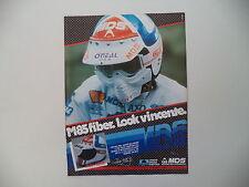 advertising Pubblicità 1985 CASCO MDS M85 e ANDRE' MALHERBE