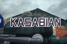 "2 x  KASABIAN   8"" DECALS/STICKERS  MUSIC GUITAR ROCK BANDMOTORBIKE HELMETS"
