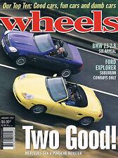 Wheels Jan 97 SLK Boxster Z3 2.8 ES300 Ford Explorer ES300 Liata Astra Pulsar