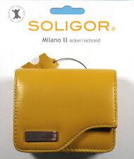 Soligor Milano II Foto Tasche ocker/ochroid Leder leather case étui - (12451)