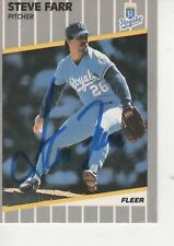 STEVE FARR SIGNED 1989 FLEER #281 - K.C. ROYALS