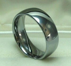 Men 8mm Titanium comfort fit ring size 8.5 Wedding band