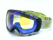 Oakley Canopy Snow Ski Snowboard Goggles Grey/ White Lime DAMAGED LENS