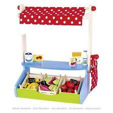 Mein Marktstand, goki 51707, Kaufladen, Kaufmannsladen, Holzspielzeug