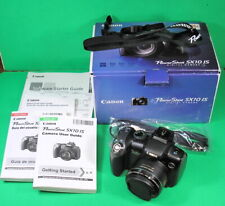 mint Canon PowerShot SX10 IS 10.0MP Digital Camera nice boxed set w card & docs