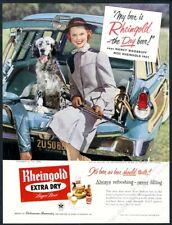 1955 English Setter Miss Rheingold Beer shotgun photo vintage print ad