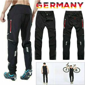 Herren Lang Radhosen Mountain MTB Bike Winddicht Hose Sporthose Laufhose Hosen