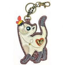 New Chala Purse Bag Charm Clip On Key Ring Fob SLIM CAT Coin Purse gift