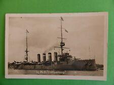 Royal Navy HMS CARNARVON armoured cruiser launched 1903 original photo postcard