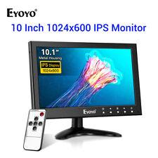 "Eyoyo 10"" IPS Monitor 1080x600 + Remote Support HDMI/AV/VGA/USB/BNC In. for CCTV"