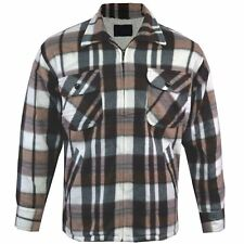 Mens Lumber Jack Hoodie Padded Fur Fleece Lined Sherpa Thick Shirt Winter Tops Ss2 - Colour 9 Shirt Style 2 XL