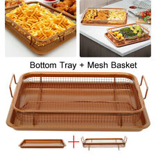 13'' Stainless Steel Toaster Turkey Oven Healthier Bacon Drip Rack Tray with Pan