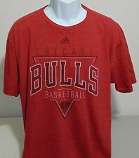 NBA Chicago Bulls Red Short Sleeve Adidas T-Shirt Mens XL