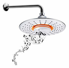 BIDET4ME MSH-10 Chrome Music Rain Showerhead Waterproof Speaker, Bluetooth