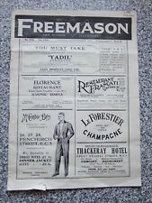 The Freemason & Masonic Newspaper No 3159 Vol LXIX 21st September 1929