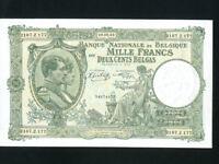 Belgium:P-110,1000 Francs,1943 * King Albert * UNC *