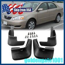 US Black Mud Flaps Splash Guards Fender Front+Rear For Toyota·Corolla 2003-08 GG