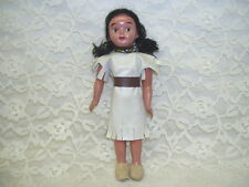 Antique Native American Indian Doll wearing Bead Necklace