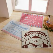 My Melody Cinnamoroll Pom Pom Purin Bath Mat Floor Room Mini Rug Bathmat E6784