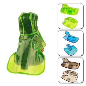 Dog Puppy Waterproof Rain Coats Pet Outdoor Clear Hooded Hoodie Jacket Clothes