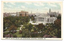 Postcard View of Capitol Square and Surrounding Buildings Richmond VA Virginia