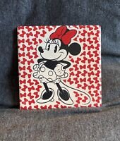 Disney Parks Minnie Mouse Ceramic Drink Coaster - Brand New!