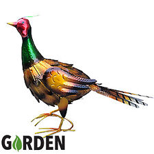 Prodbuy-ltd Large 35cm Common Ringneck Pheasant Metal Garden Ornament