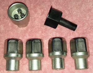 WOLFRACE SLOT MAG ALLOY WHEELS LOCKING WHEELNUTS M12x1.5 x 16.3mm TRILOCK