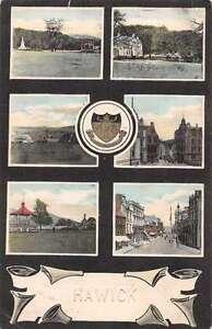 Hawick England Park Street Scene Scenic View Antique Postcard J48824