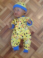 babyborn dolls clothes-bright yellow jumpsuit with matching hat