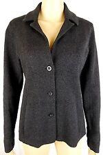 Eileen Fisher Womens XS Black Wool Blend Cardigan Sweater Jacket