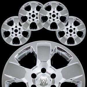 "4 for Dodge Ram 1500 Truck 2019 2020 Chrome 18"" Wheel Skins Hub Caps Rim Covers"