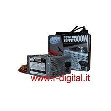 ALIMENTATORE PC VULTECH ATX 500 WATT 24Pin 12Cm FAN SATA PCI COMPUTER SILENZIOSO