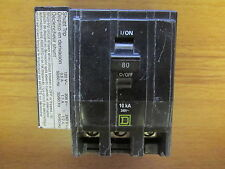 * SQUARE D 80 AMP 3 POLE CIRCUIT BREAKER QO3801021 (METAL TABS) ..... VS-415