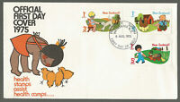 NEW ZEALAND - FDC-HEALTH STAMPS ASSIST 1975