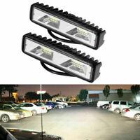 2X 48W LED Work Light Bar Flood Lights Car SUV Off-Road Driving Fog Front Lamps