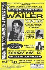 Bunny Wailer Bob Marley Peter Tosh  Concert Handbill Mini-Poster NYC 1997