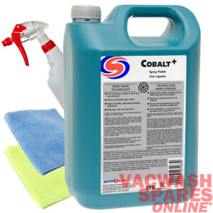 AUTOSMART COBALT+ SPRAY POLISH 5 LITRE - USE WET OR DRY - DUST FREE - TRADE