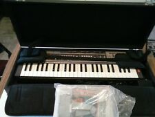 CasioTone MT-100 Synthesizer Keyboard Case See Working Video Books 1980's Vtg