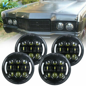 """4pcs 5.75"""" 5 3/4inch LED Headlight DRL Assembly High Low Beam For Car Pickup"""