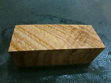 SPALTED TIGER OAK DELUXE KNIFE BLOCK/SCALES/ CALLS/ PEN BLANKS--O--A--4