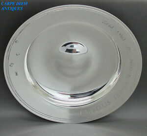 BOODLE & DUNTHORNE (BOODLES) SCARCE SOLID SILVER ARMADA DISH 506g LONDON 1971