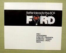 1980's ORIGINAL FORD BROCHURE Thunderbird Granada Fairmont Futura Mustang 12 pgs
