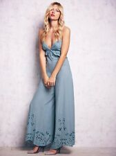 Free People Embroidered Eyelet Star Fish Wideleg Jumpsuit Romper Mint Sz S Rare