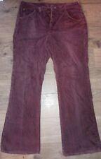 Rare Vintage Lee Flare Leg Bell Bottom Can't Bust Em Work Pants Soft Corduroy 34