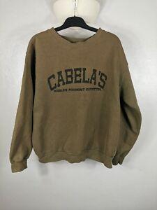 Cabelas Sweatshirt Jumper Mens Size Large See Details Green cabela's