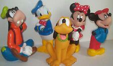 "5 jeux, jouets, figurines Pouet "" Mickey, Minnie, Donald, Dingo et Pluto "" TBE"